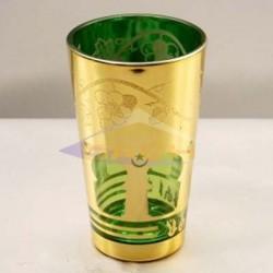 Vasos de té dorados