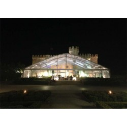 Transparent exhibition tent with oval roof