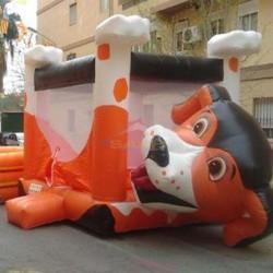 Castillo hinchable, Perro
