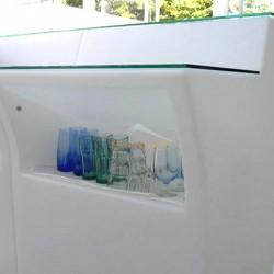 Encimera de vidrio ,  Jumbo Bar recta