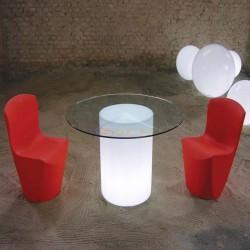 Mesa iluminada redonda con luz, Arthur