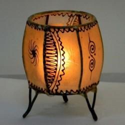 Portavela árabe de piel pintada