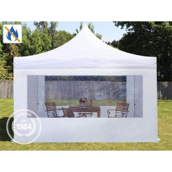 Carpa plegable 3x3 m - Alu 40 mm, ignífugo